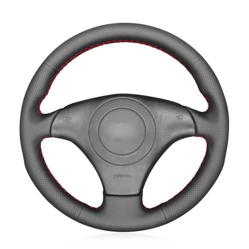Loncky Auto Custom Fit OEM Black Genuine Leather Car Steering Wheel Cover for Audi A8 Audi TT Audi S4 Audi S6 Audi S8 Accessories
