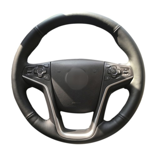 Loncky Auto Custom Fit OEM Black Genuine Leather Car Steering Wheel Cover for Buick Lacrosse 2014 2015 2016 Accessories