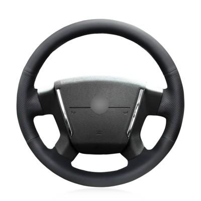 Loncky Auto Custom Fit OEM Black Genuine Leather Car Steering Wheel Cover for Dodge Caliber 2008 2009 2010 2011 Dodge Avenger 2007 Accessories