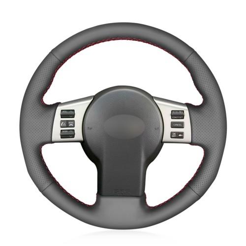Loncky Auto Custom Fit OEM Black Genuine Leather Car Steering Wheel Cover for Infiniti FX35 Infiniti FX45 2003 2004 2005 2006 2007 2008 Nissan 350Z 2003 2004 2005 2006 2007 2008 2009 Accessories