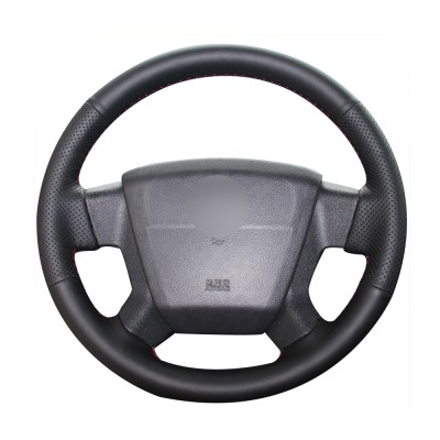 Loncky Auto Custom Fit OEM Black Genuine Leather Car Steering Wheel Cover for Jeep Compass Limited 2007 2008 2009 2010 Jeep Patriot Limited 2007 2008 2009 2010 Accessories