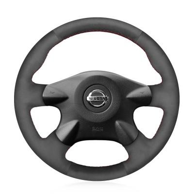 Loncky Auto Custom Fit OEM Black Suede Car Steering Wheel Cover for Nissan Almera N16 Pathfinder Primera Paladin X-Trail Samsung SM3 Infiniti M45 Accessories