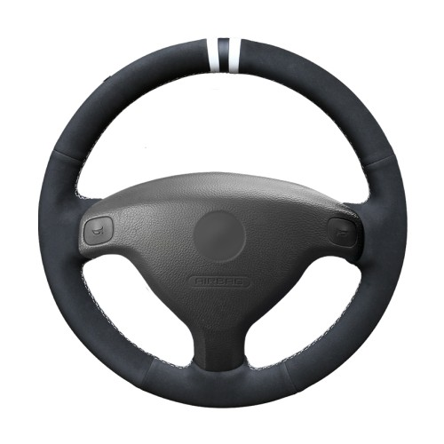 Loncky Auto Custom Fit OEM Black Leather Suede Car Steering Wheel Cover for Opel Astra (G) 1998-2004 Zafira (A) 1999-2005 Agila (A) 2000-2004 Accessories