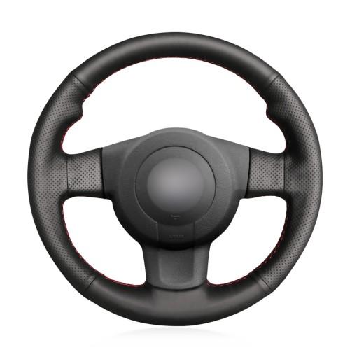 Loncky Auto Custom Fit OEM Black Genuine Leather Car Steering Wheel Cover for Seat Leon (1P) FR 2007  Seat Leon (1P) Cupra 2007  Seat Ibiza (6L) FR 2006 Accessories