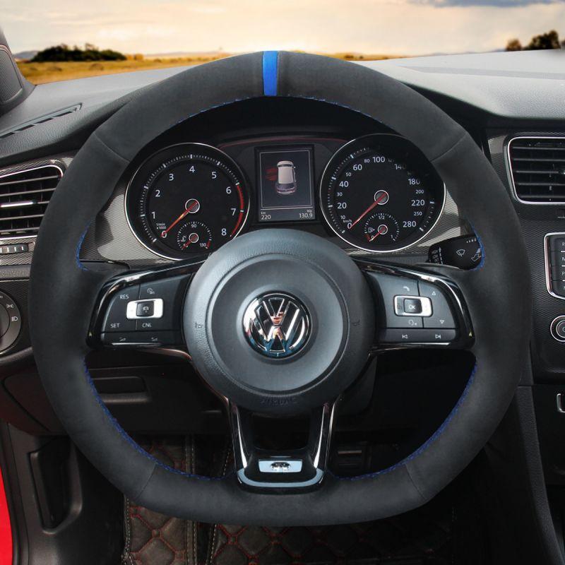 vw golf steering wheel gti volkswagen jetta custom gli mk7 oem leather suede loncky