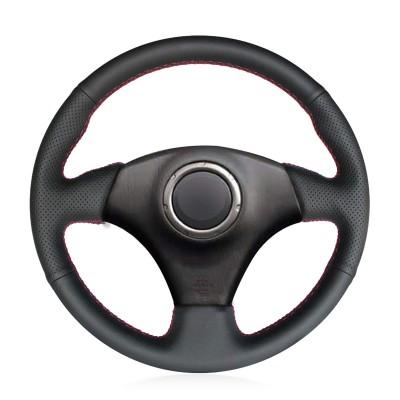 Loncky Auto Custom Fit OEM Black Genuine Leather for Toyota RAV4 1998-2003 Celica 1998-2005 Corolla (US) 2003-2008 Matrix 2003-2008 MR2 2000 2001 2002 2003 2004 Lexus IS200 IS300 1999-2005 Steering Wheel Covers