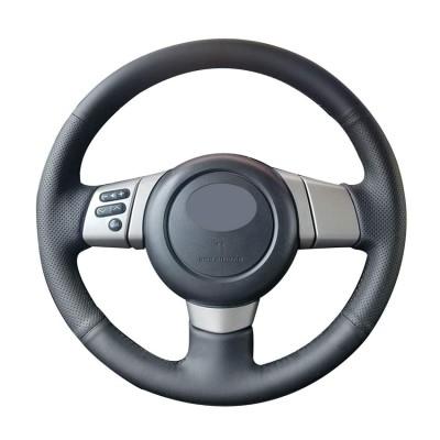 Loncky Auto Custom Fit OEM Black Genuine Leather Car Steering Wheel Cover for Toyota FJ Cruiser 2007 2008 2009 2010 2011 2012 2013 2014 Accessories