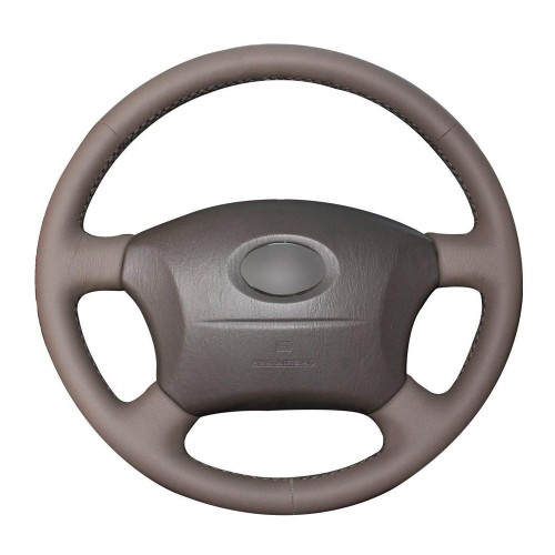 Loncky Auto Custom Fit OEM Brown Genuine Leather Car Steering Wheel Cover for Lexus GX470 2003 2004 2005 2006 2007 2008 2009 Lexus LX470 1998-2007 Lexus LX450 1996 1997 Accessories