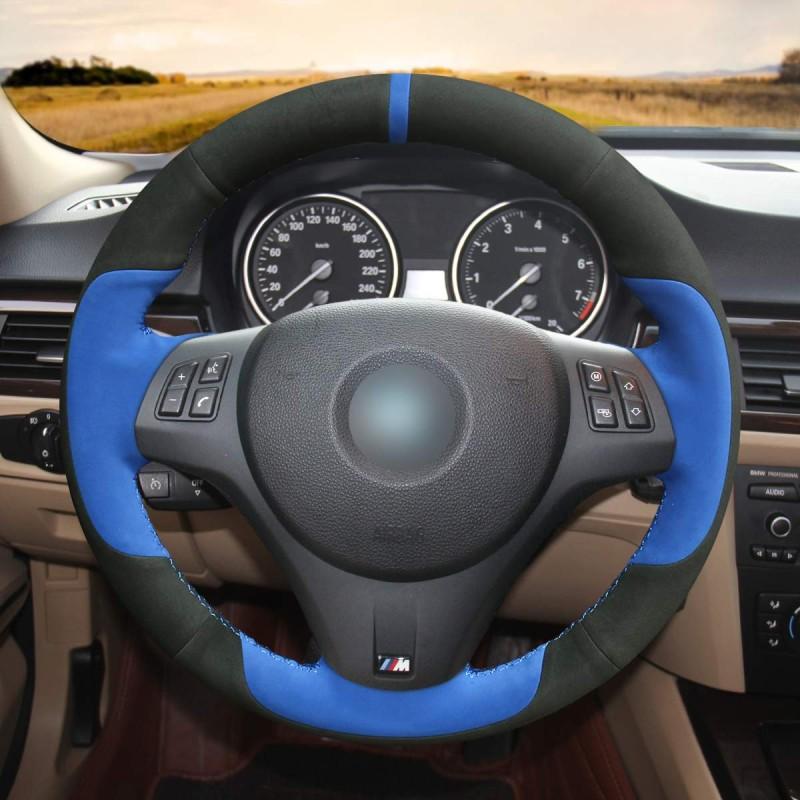 2011 Bmw M3: Loncky Auto Black Genuine Leather Black Blue Suede