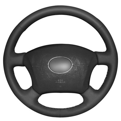 Loncky Auto Black Genuine Leather Custom Fit Car Steering Wheel Cover for Toyota Tacoma 2005-2011 / Toyota 4Runner 2003-2009 / Camry 2005 2006 / Sienna 2004-2010 / Sequoia 2003-2007 / Highlander 2004-2007 / Land Cruiser 1995-2007 Accessories
