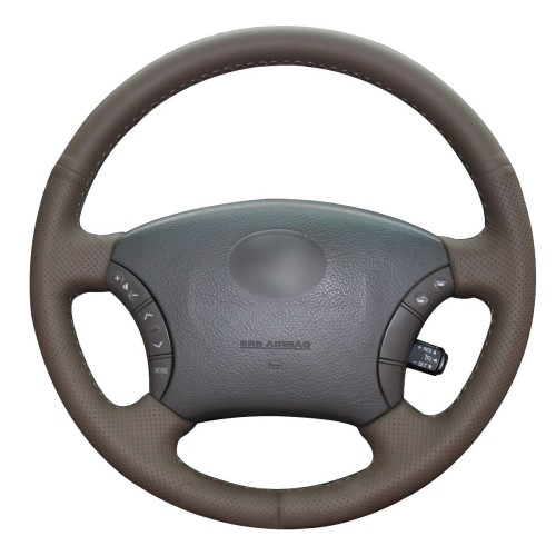 Loncky Auto Custom Fit Car Genuine Leather steering wheel covers for Toyota Tacoma 2005-2011 Toyota 4Runner 2003-2009 Camry 2005 2006 Sienna 2004-2010 Sequoia 2003-2007 Highlander 2004-2007 Land Cruiser 1995-2007 Accessories