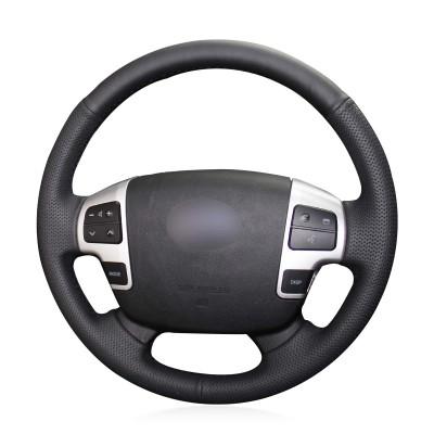Loncky Auto Genuine Leather Auto Custom Steering Wheel Covers for 2008 2009 2010 2011 2012 2013 2014 2015 Toyota Land Cruiser / 2007 2008 2009 2010 2011 2012 2013 Toyota Tundra / 2008 2009 2010 2011 2012 2013 Toyota Sequoia Accessories