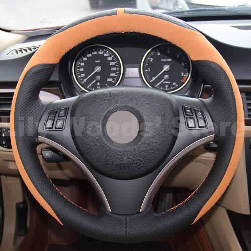 Loncky Auto Black Suede Custom Steering Wheel Cover for BMW 128i 135i BMW 325i 328i BMW 328 xi BMW 328 i xDrive BMW 330 xi BMW 335i 335 xi BMW 335 d BMW 335 i xDrive Accessories Parts