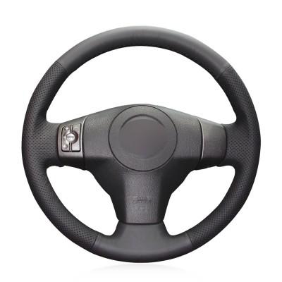 Loncky Auto Genuine Leather Custom Steering Wheel Covers for Toyota RAV4 2006 2007 2008 2009 2010 2011 2012 / RAV4 EV 2013 2014 / Yaris 2007-2011 / Scion XB 2008-2015 / XD 2008-2014 Interior Accessories