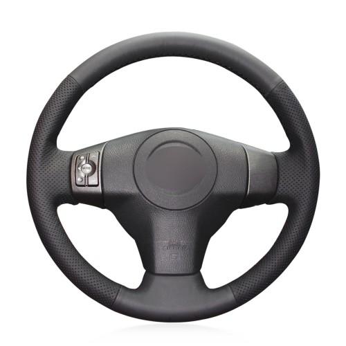 Loncky Auto Genuine Leather Custom Steering Wheel Covers for Toyota RAV4 2006 2007 2008 2009 2010 2011 2012 RAV4 EV 2013 2014 Yaris 2007-2011 Scion XB 2008-2015 XD 2008-2014 Interior Accessories